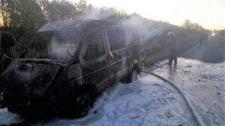 Газель сгорела под славянском (1)