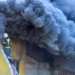 пожар на складе Донецк